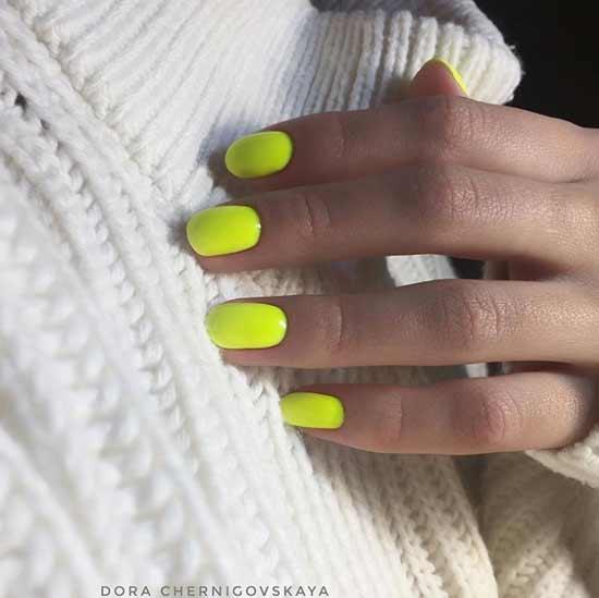 Неоновый маникюр короткие ногти
