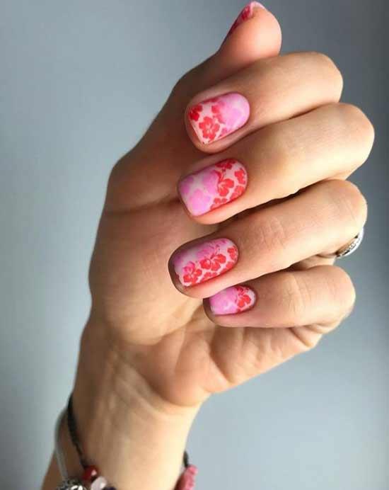 Нежный маникюр короткие ногти