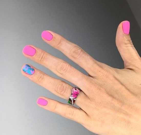 Матовый маникюр короткие ногти