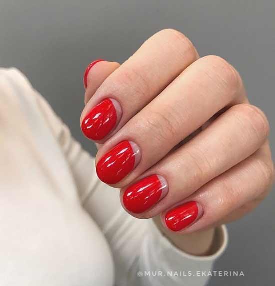 Летний красный нейл-дизайн
