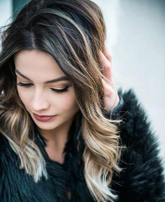Стрижка средние волосы