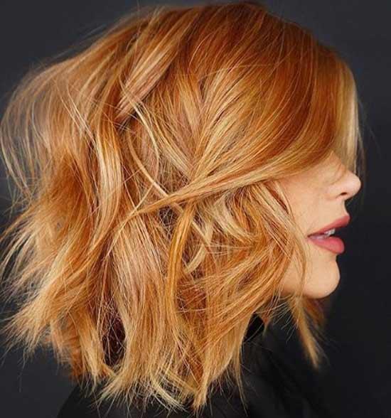 Модная стрижка каскад на средние волосы