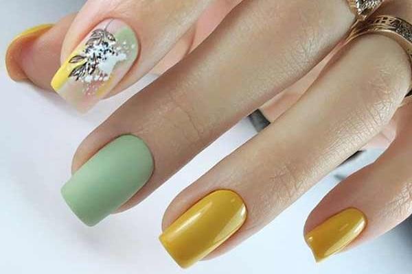 Мятный цвет ногтей дизайн маникюр 2020