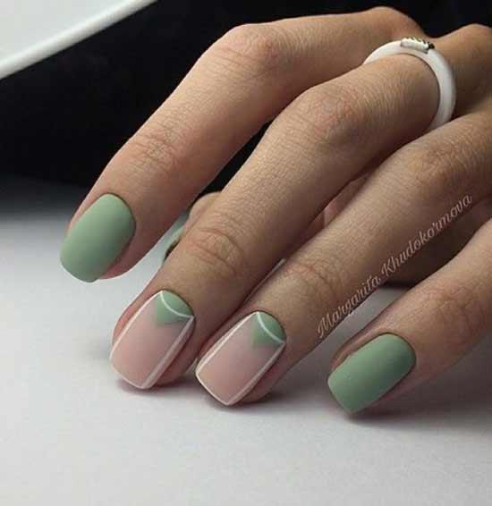 Мятный на короткие ногти
