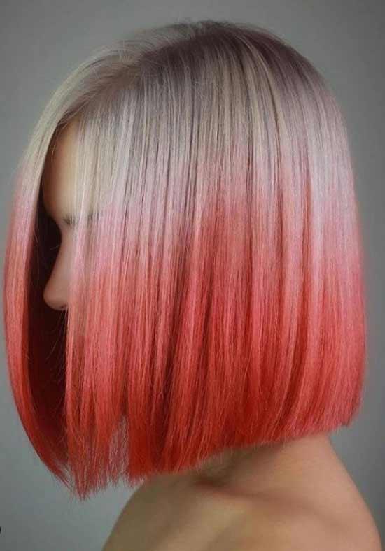 Красивый красный оттенок на волосах