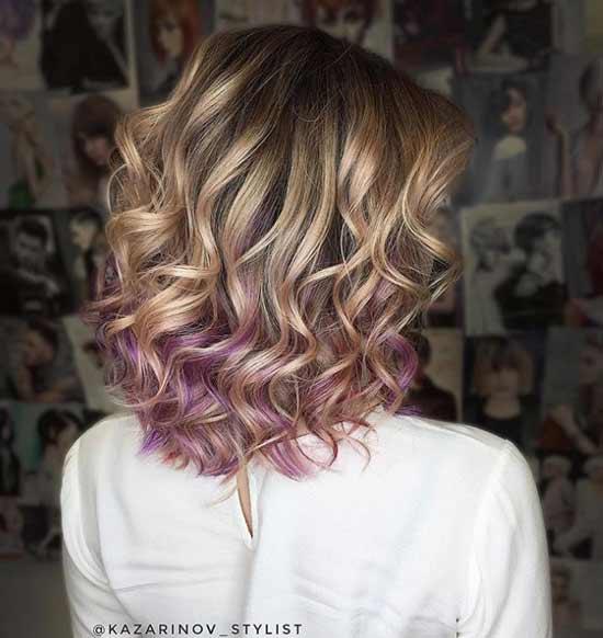 Пастельно-фиолетовое окрашивание