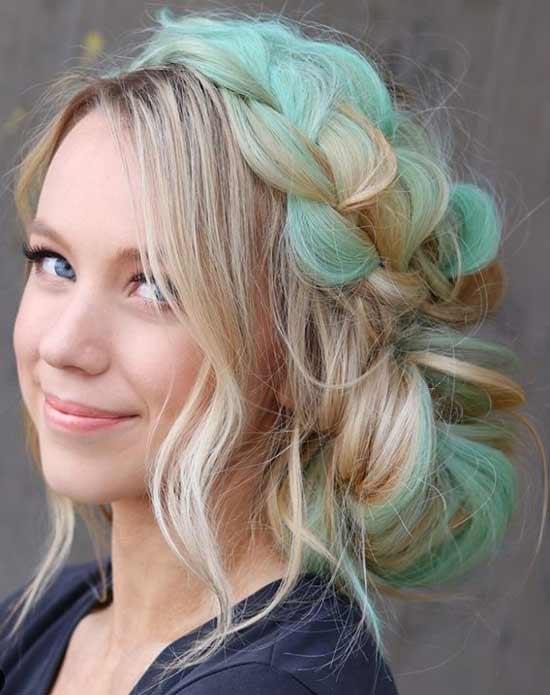 Пастельно-зеленый цвет волос 2020