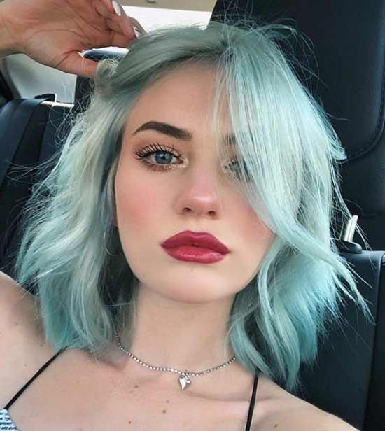 Пастельный зеленый модный цвет волос