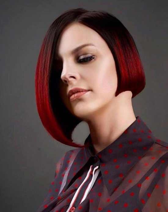 Каре - красный цвет волос