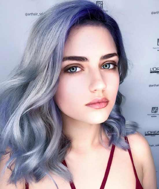 Сине-голубой цвет волос
