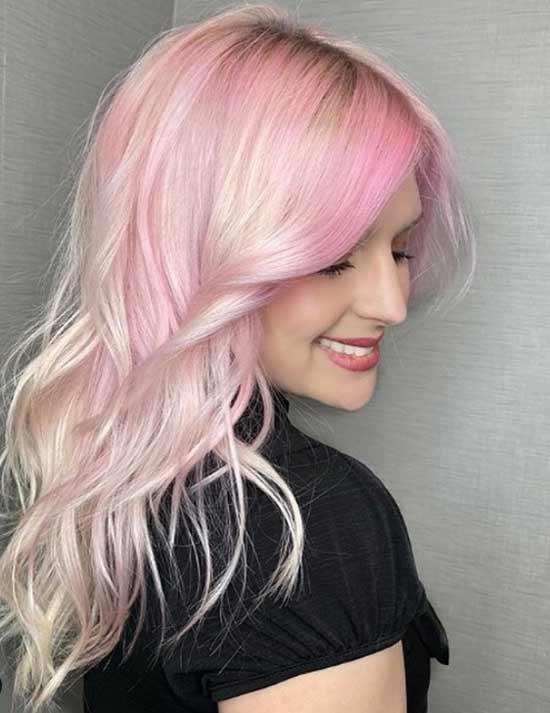 Модный розовый цвет волос