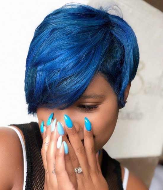 Окрашивание в синий цвет