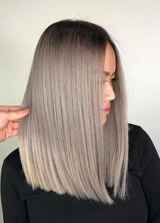 Серый модный цвет волос