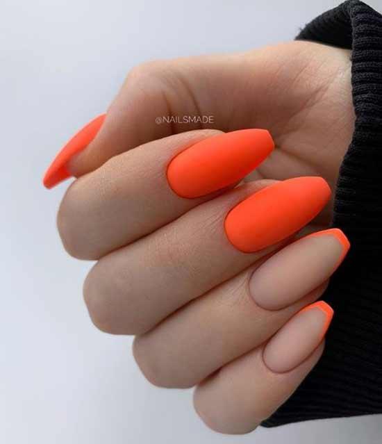 Оранжевый френч