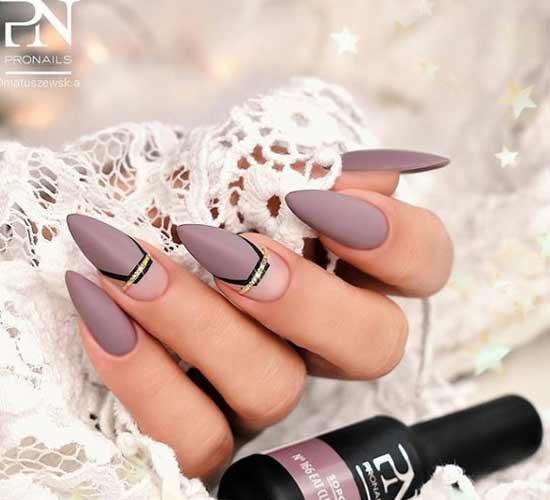 Цветной на длинные ногти френч