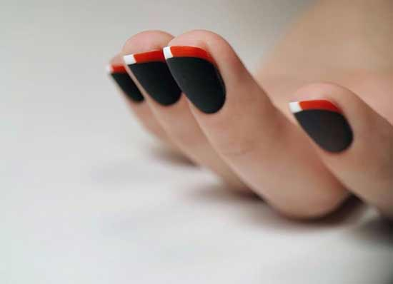 Черный с красным френч