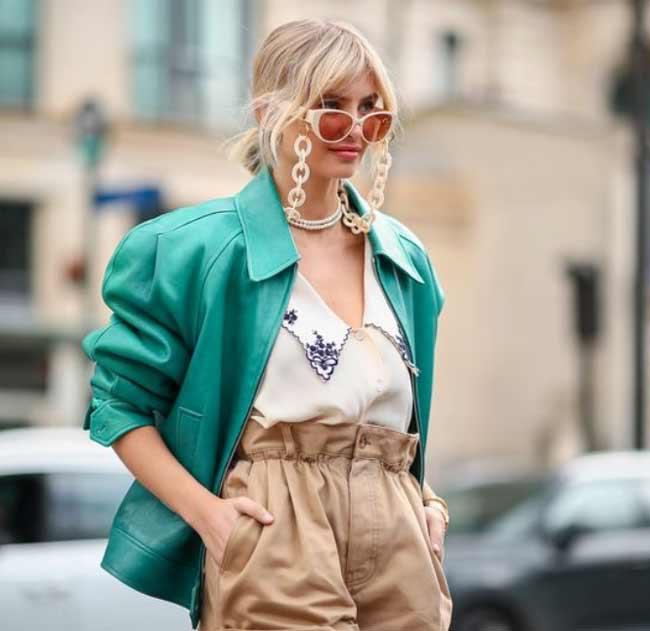 Модные солнцезащитные очки с цепочкой