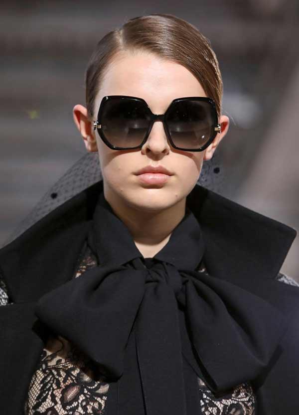 Модные геометрической формы очки