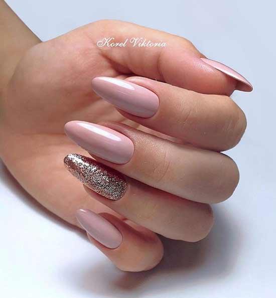 Длинные ногти миндаль с дизайном