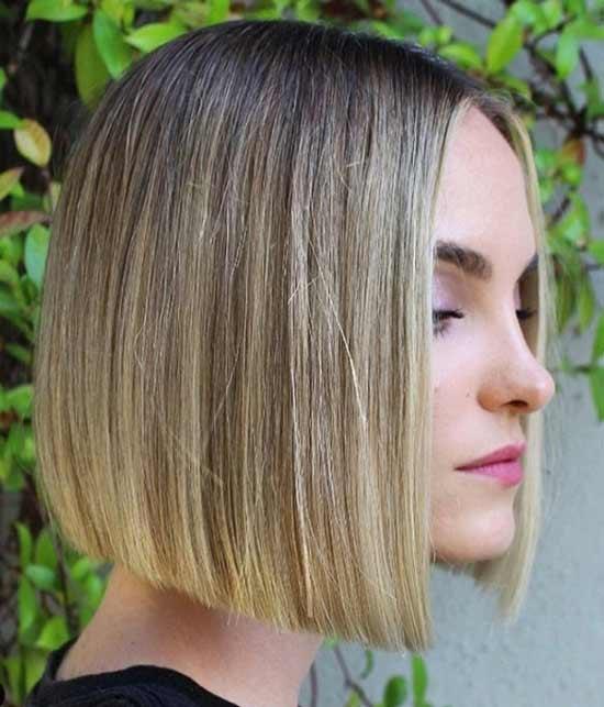 Прямые волосы каре