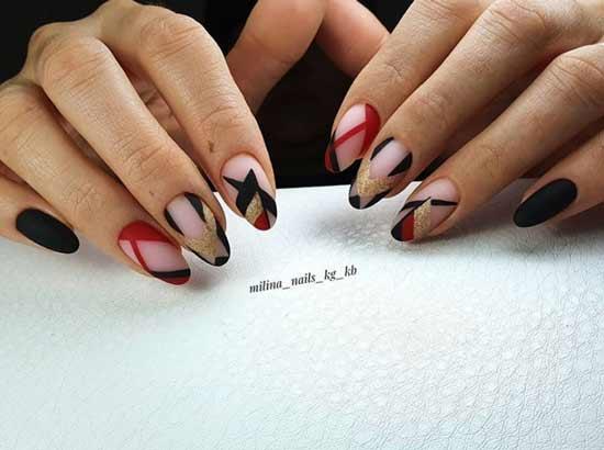 Черно-красный френч
