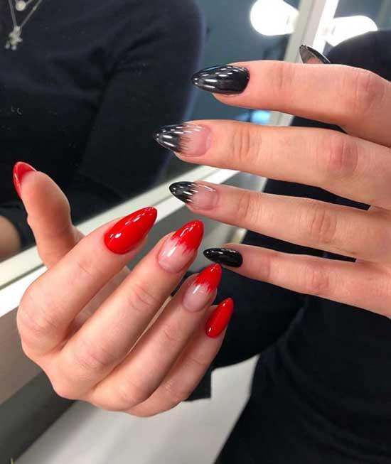 Красный френч разные руки