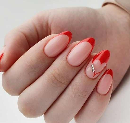 Красный с сердечком