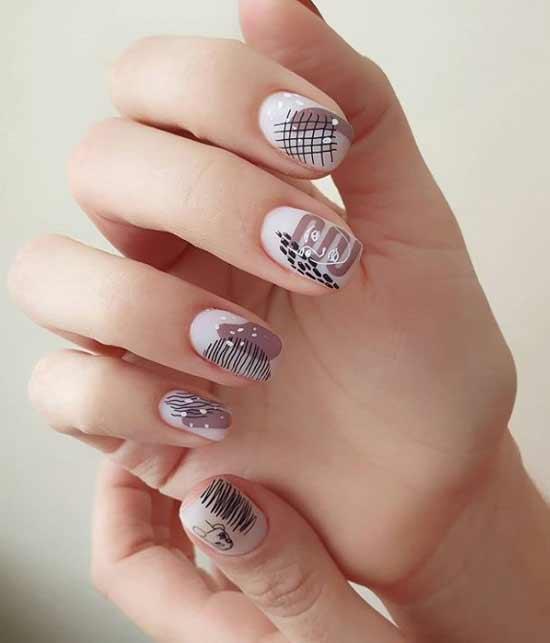 Стемпинг на всех ногтях