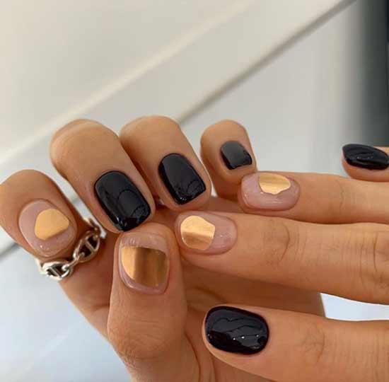 Маникюр разные руки на короткие ногти