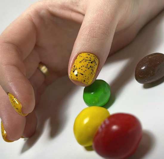 Дизайн ногтей перепелиное яйцо