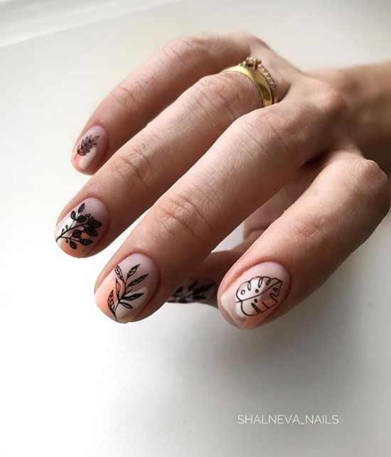 Короткие ногти модный маникюр