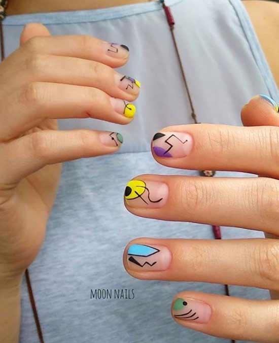 Фото маникюра на короткие ногти