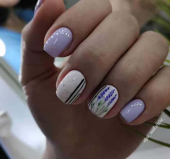 Нежные рисунки на ногтях