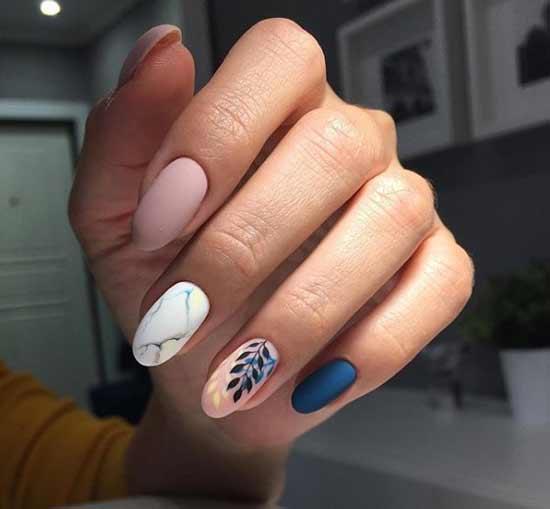 Модные ногти с рисунком