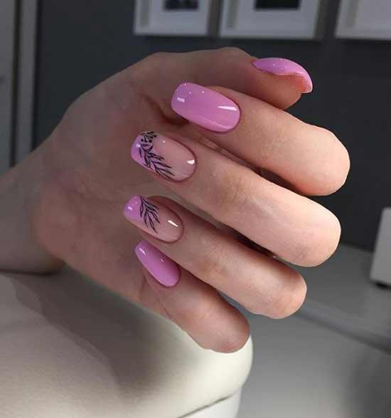 Летние рисунки ногти