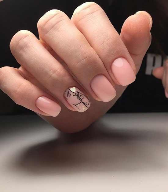 Черно-белые портреты на ногтях