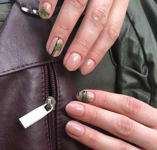 Ногти с растительным орнаментом