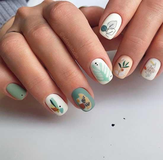 Миленькие рисунки ногти
