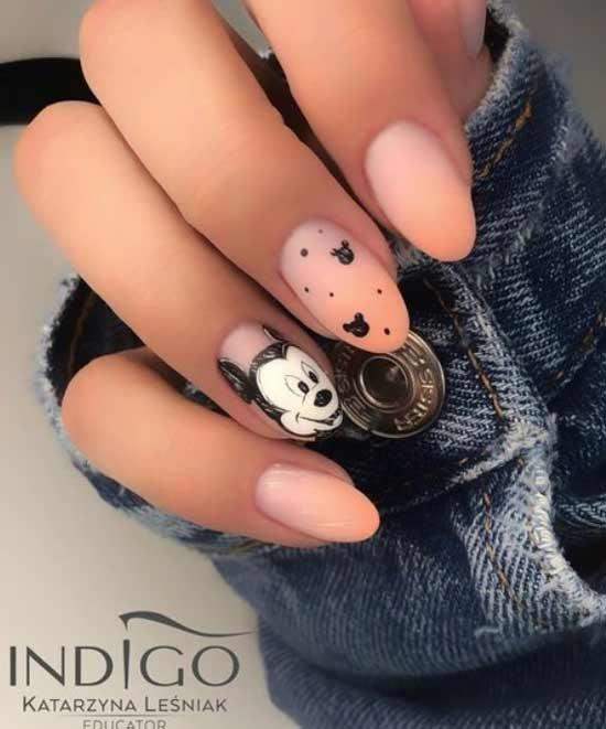 Милый микки-маус ногти