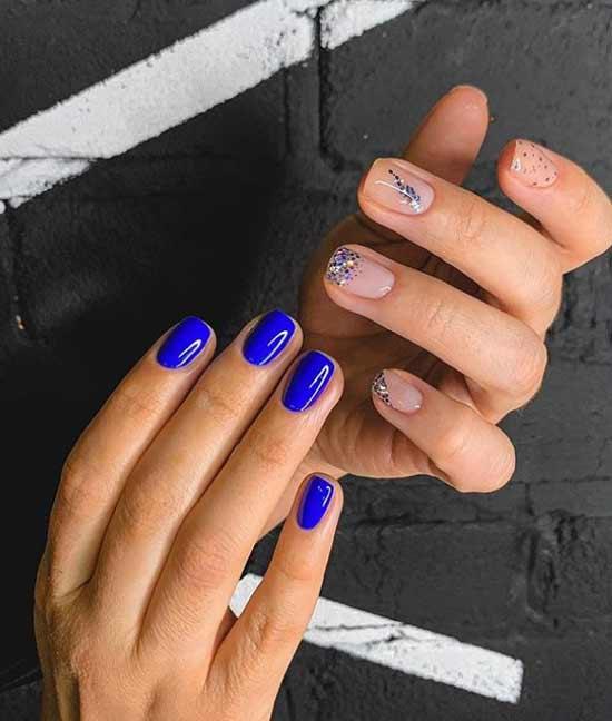 Квадратные модные ногти