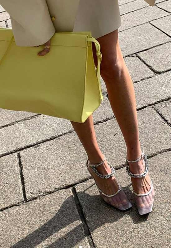 Модная обувь с цепями