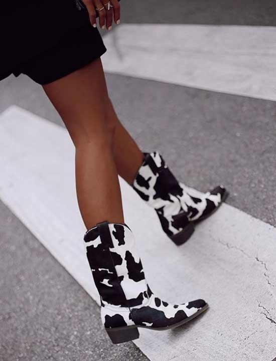 Модные ковбойские сапоги