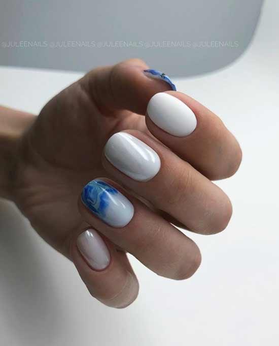 Красивый белый маникюр фото дизайн ногтей