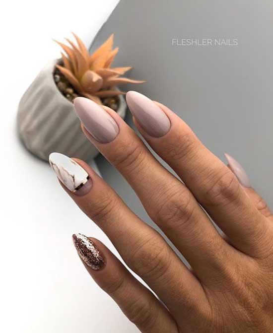 Нюд на длинные ногти
