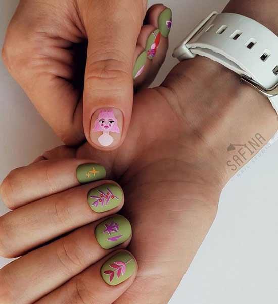 Дизайн ногтей с наклейками фото