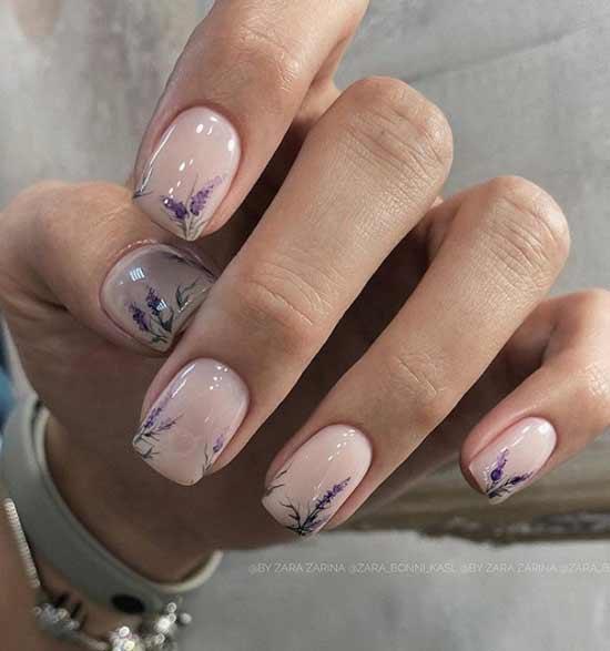 Рисунки на ногтях в стиле прованс