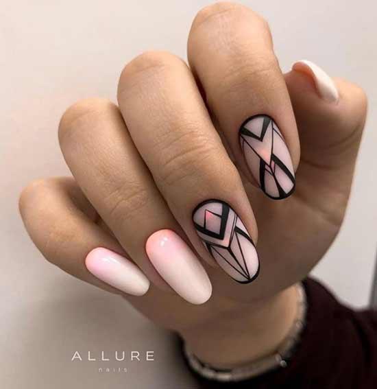Рисунки на ногтях в стиле геометрия
