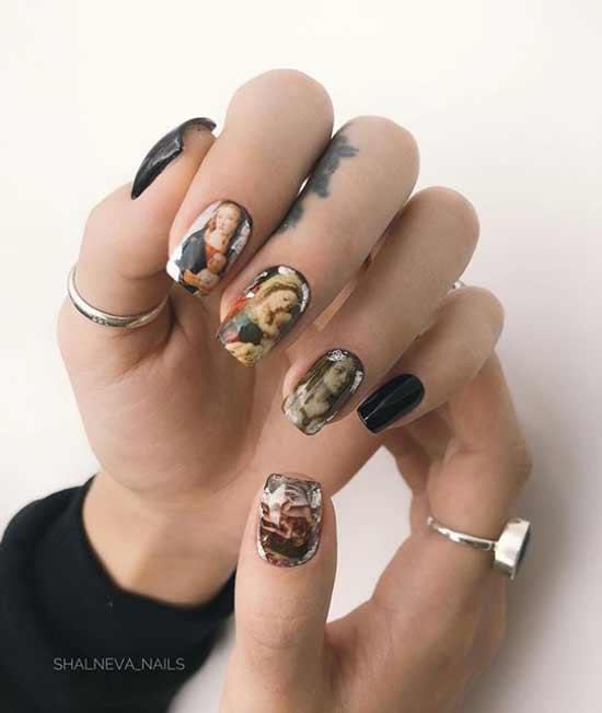 Рисунки на всех ногтях
