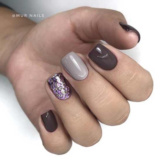 Дизайн ногтей с глиттером