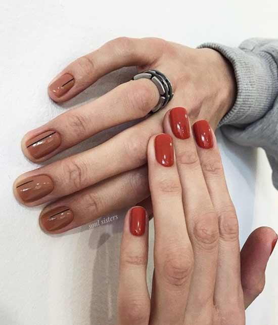 Разные цвета коричневого на руках